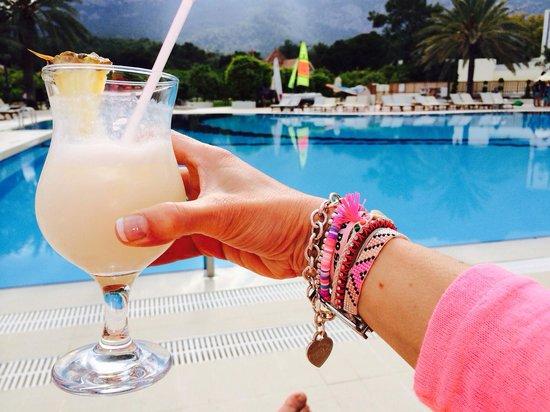Club Med Palmiye: Another Piña Colada by the pool :) palmiye the best bar team! Merci