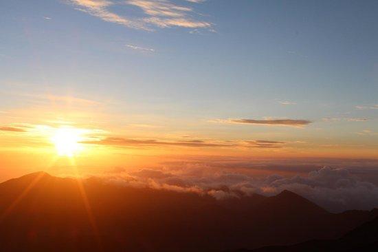 Haleakala National Park : The sunrise at the summit