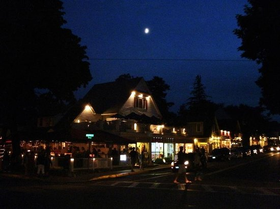 Village Green: Bar Harbor at night