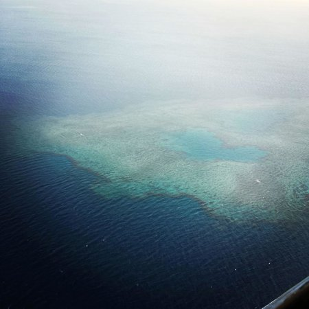 Tokoriki Island Resort: the view from our seaplane transfer