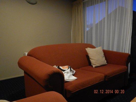 Glenfern Villas Franz Josef: Living room