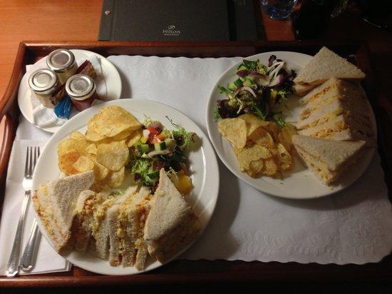 Hilton Blackpool Hotel: Room Service Sandwiches