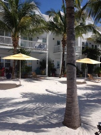 Parrot Key Hotel and Resort : another view looking towards the room from the beach.