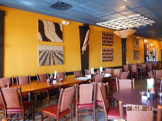 Pho 75 Vietnamese Restaurant: interior wall