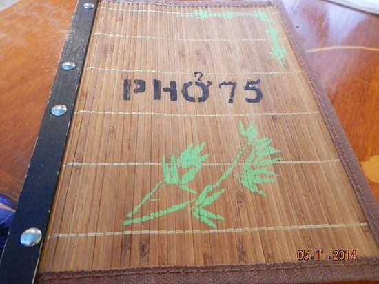 Pho 75 Vietnamese Restaurant: menu