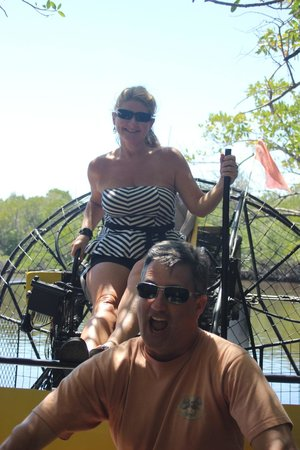 Speedy's Airboat Tours : Unsuccessful attempt to commandeer the boat.  : )