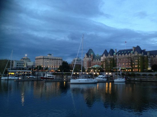 The Fairmont Empress: The hotel is on the right side of the picture