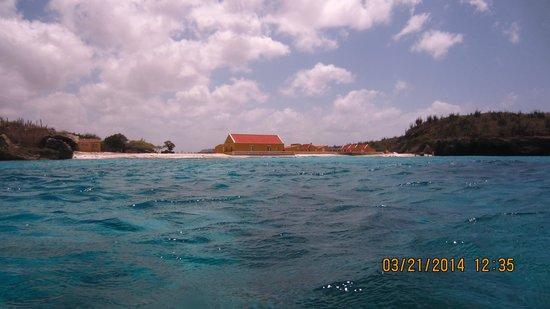 Boca Slagbaai: comming in from dive