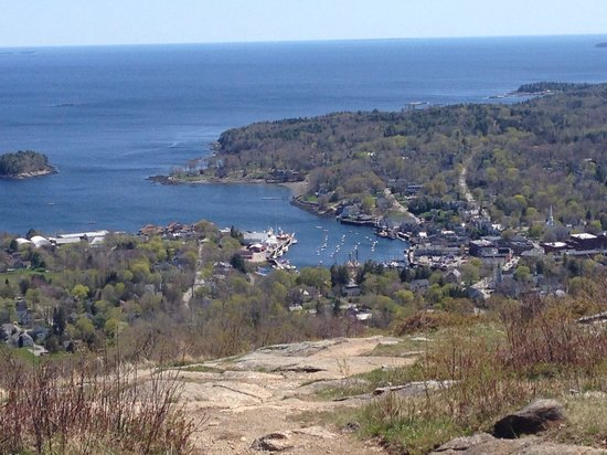 The Lodge at Camden Hills: View of the bay from Battie mountain