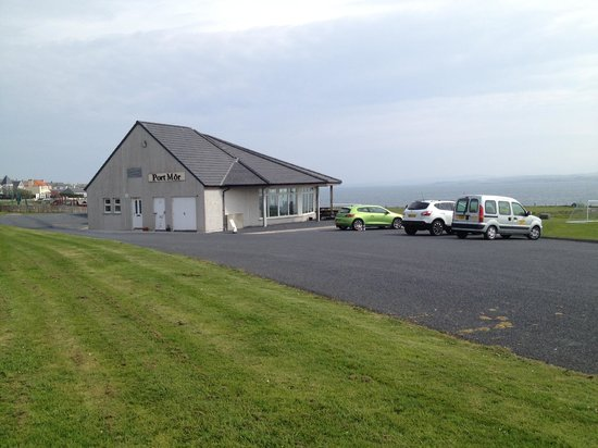 Port Mor Campsite: The communal block - cafe, office, meeting rooms, toilets and showers