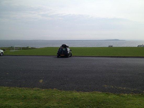 Port Mor Campsite: View from car park