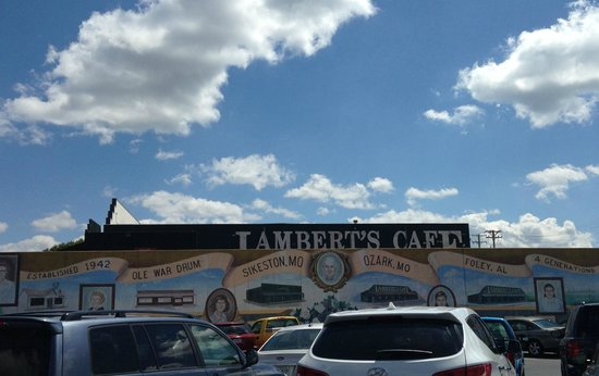 Lambert's Cafe : The lower parking lot
