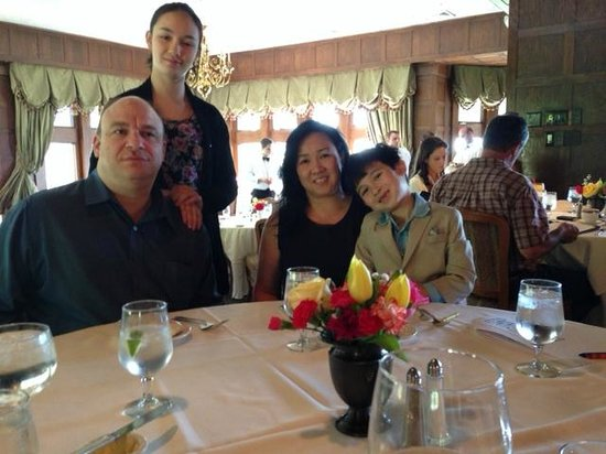 Le Chateau: My son, granddaughter, daughter-in-law & grandson.