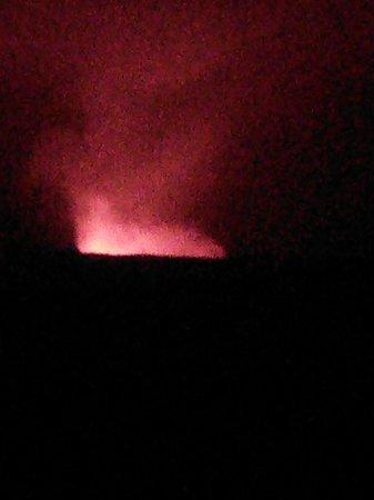 Thomas A. Jaggar Museum: Eerie night magma glow
