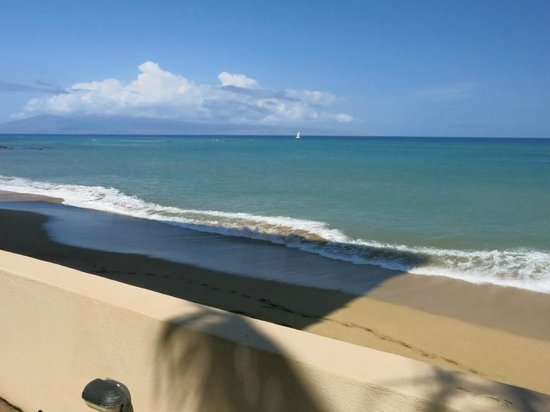 view from the deck of Kahana Beach Resort.
