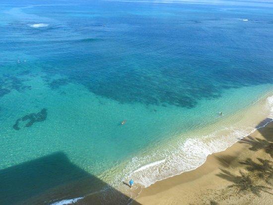 Kahana Beach Resort: view from our balcony