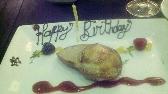 Masraff's : Creme Brule in roasted pear half - Yum!