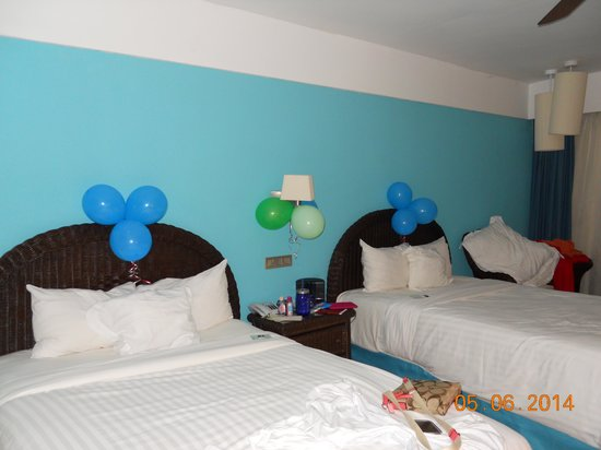 Barcelo Bavaro Beach - Adults Only: Room decorated by staff when we returned from dinner.