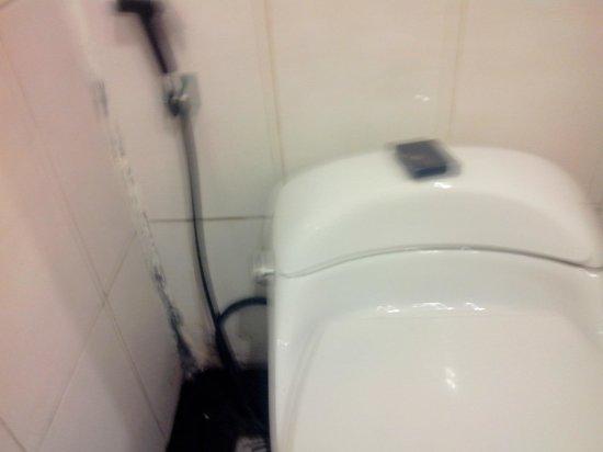 Blue Point Bay Villas & Spa: Toilettes et salle de bains totalement à rénover