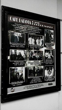 Cafe Batavia : Live music schedules