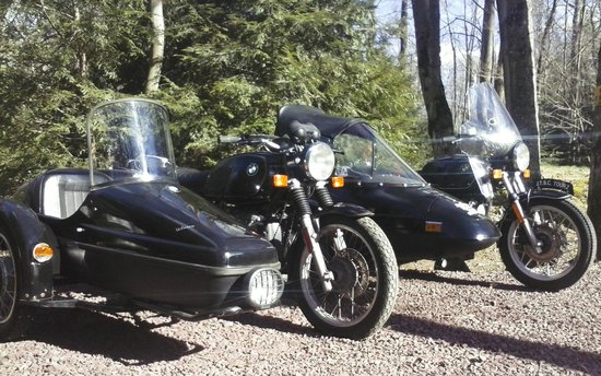 Jim Thorpe Sidecar Tourz : We offer two BMW sidecar rigs to accommodate up to four passengers.