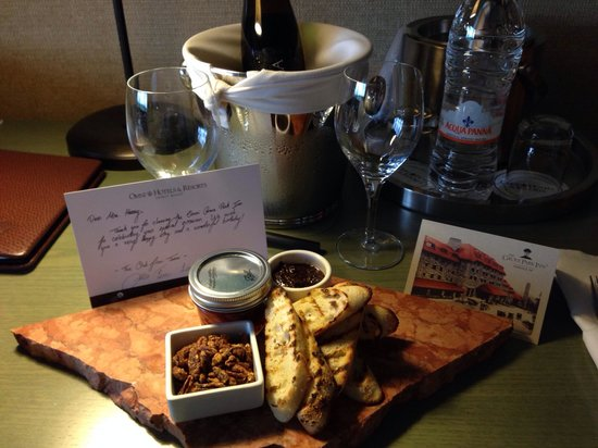 The Omni Grove Park Inn : Welcome vegan amenity for our birthday.