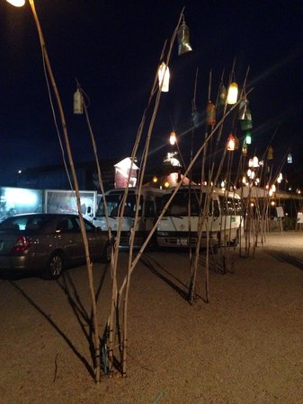 Phare, The Cambodian Circus: Beautiful Lanterns lighting the entrance path