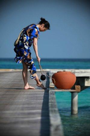 Gili Lankanfushi Maldives : No shoes policy