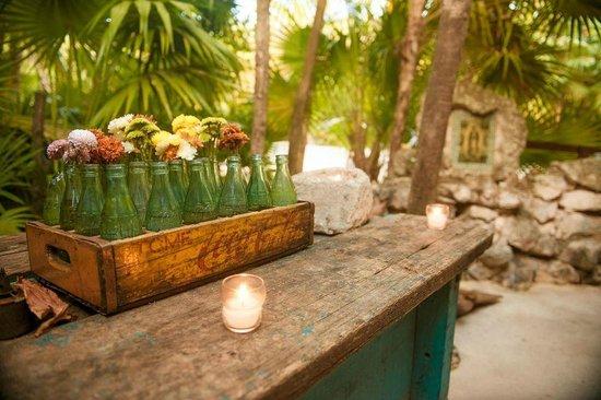 Our wedding decor at Casa Banana