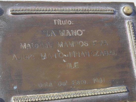 Playa Brava: placa comemorativa