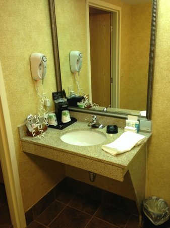 Hampton Inn and Suites Chapel Hill / Durham Area: Yeah, the bathroom sink area was pretty small.