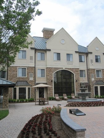 Staybridge Suites Charlotte Ballantyne: This is the back courtyard. There's also an indoor pool and hot tub, plus a great fitness center