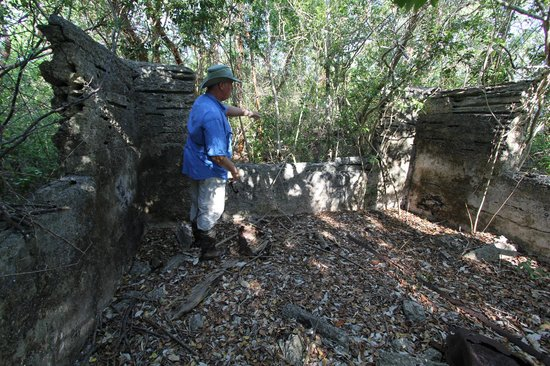 Everglades Backcountry Experience with Capt. Rodney Raffield: Captain Rodney showing us the old ruins on Fakahatchee Island
