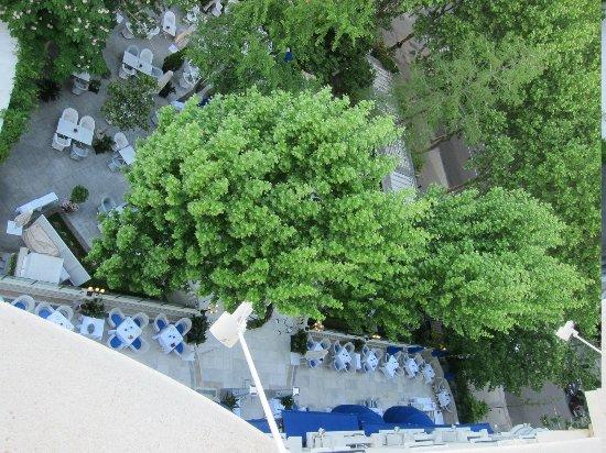 Hotel Ritz, Madrid: Look down the terrace restaurant