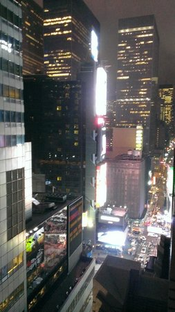 Hotel Edison Times Square : View of some of the lights on Broadway from the balcony