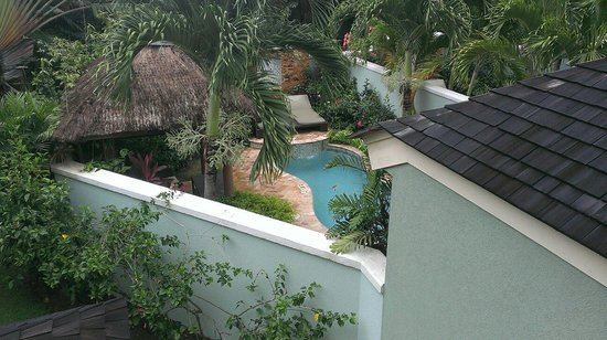 "Sandals Negril Beach Resort & Spa: View of ""private"" plunge pool from nearby stairs, Millionaire suite, Negril."