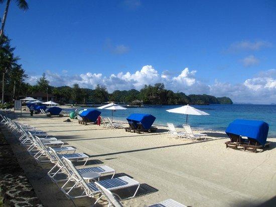 Palau Pacific Resort: Private beach