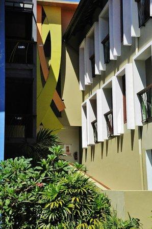 All Seasons Legian Bali: Hotel ground looking towards our room