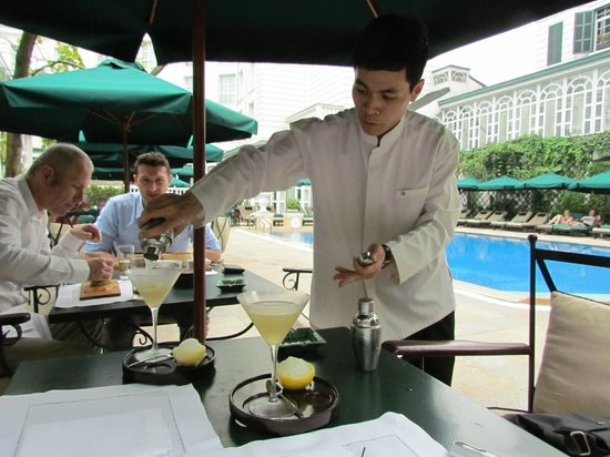 Sofitel Legend Metropole Hanoi: Serving the Perfect Martini at Poolside