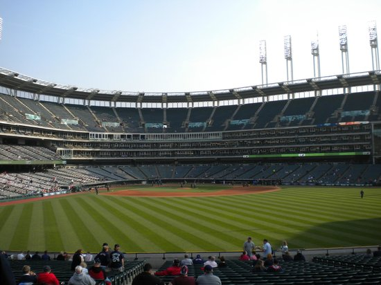 Progressive Field : from the outfield