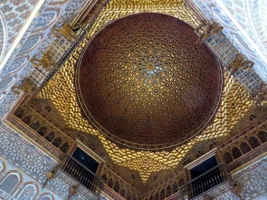 Real Alcazar: Ceiling of the Hall of Ambassadors, representing the Heavens