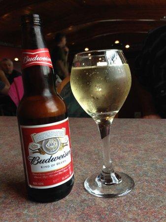 Budweiser and Chardonnay, Mr. Ribs     Main St. SW, Neepawa, Manitoba, Canada
