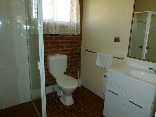 Wondai Colonial Motel : new shower screens, toilet & vanity basin