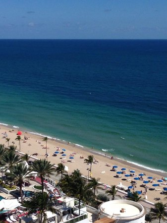 W Fort Lauderdale: View from our room! 14th floor