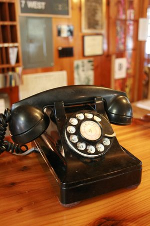 Izaak Walton Inn: The phone left on the front desk at night in case you needed...anything.