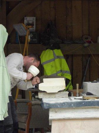 Cathédrale d'York : Stonemason at Work