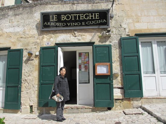 Le Botteghe: at the entrance