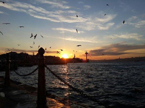 Estambul, Turquía: Bosphorus view from uskudar
