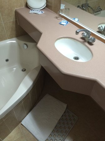 Alaska Inn : Bathroom too small for jacuzzi