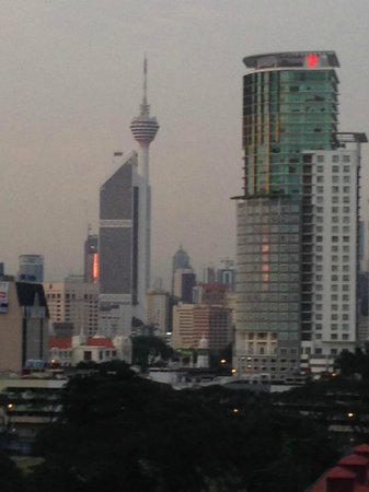 Hotel Sentral : View of KL tower from our room.